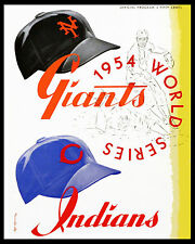 1954 World Series - (Giants & Indians) Poster of Program  - 8x10 Color Photo
