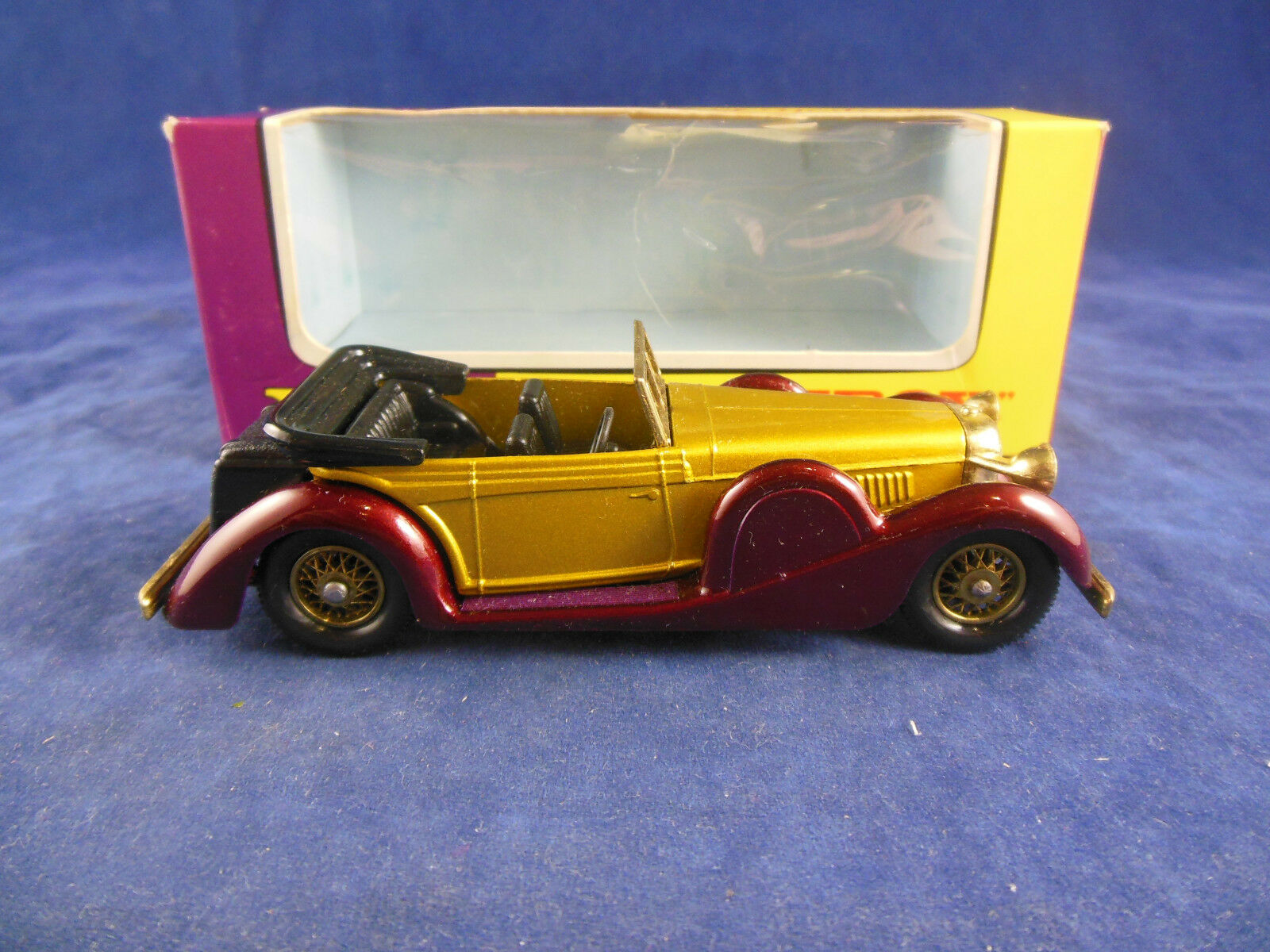 Matchbox antaño Y11-3 1938 Lagonda Drophead Coupé oro oscuro marrón número 5