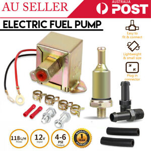 12V-Electric-Fuel-Pump-Solid-State-4-6-PSI-118L-H-Inline-Filter-Diesel-Petrol-AU