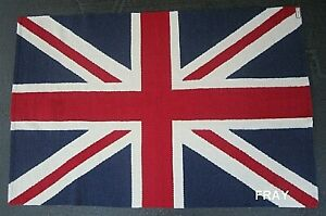 4' X 6' JONATHAN ADLER BRITISH FLAG JACK RUG 80% LLAMA 20% LAMB WOOL HAND LOOMED