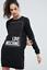 Love MOSCHINO cotton shirt dress black casual full sleeves Medium M