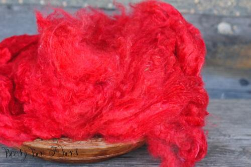 Recycled Sari Silk 1 oz Silk CARDINAL Pulled Sari Silk Cloud