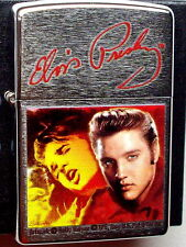 Original ZIPPO Feuerzeug Elvis by Betty Harper  Chrome Brushed Neu & OVP