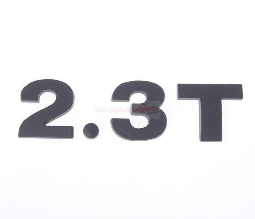 2.3T 2.3 T 3.2T 3.2 T Black Turbo Engine Metal Rear Trunk Emblem Badge Sticker