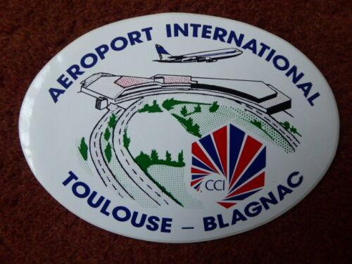 AUTOCOLLANT STICKER AUFKLEBER AIRPORT AEROPORT FLUGHAFEN TOULOUSE BLAGNAC