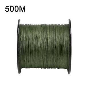 500-M-30-LB-0-26mm-Camo-Fishing-Line-Staerke-PE-Geflochtene-gruen-grob-4-Straenge
