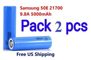 2x-Samsung-INR21700-50E-9-8A-5000mAh-Rechargeable-High-Drain-3-7V-21700-Battery