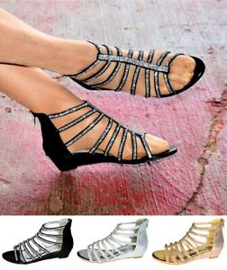 Wedge Heel Gladiator Sandals