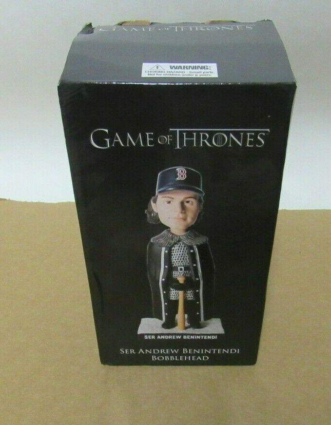 BOSTON rosso SOX GAMES OF THRONES ANDREW BENINTENDI COLLECTIBLE BOBBLE HEAD FIGURE