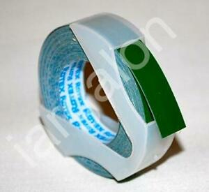 """DYMO Embossing Tape Glossy Blue 3//8/"""" x 6 Ft NEW Label Labeling"""