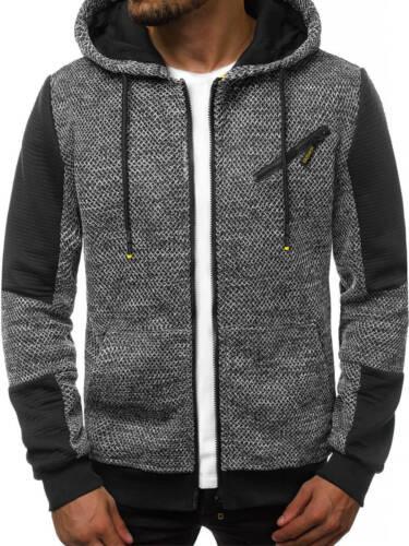 Capuche Sweatshirt Sweatjacke hoodie manches longues OZONEE js//ks1931 Hommes