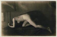Artistic NUDE WOMAN study/artistica atto studio * VINTAGE 20s Photo PC