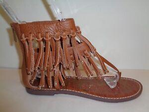 118b11750db14 Sam Edelman Size 7.5 M GRIFFEN Brown Fringe Leather Sandals New ...
