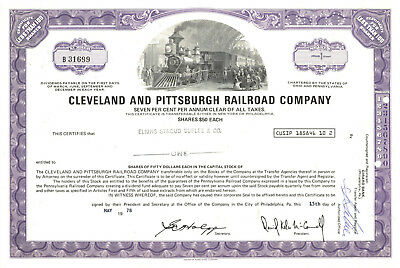 Southern Railway Company Stock Certificate Railroad Purple