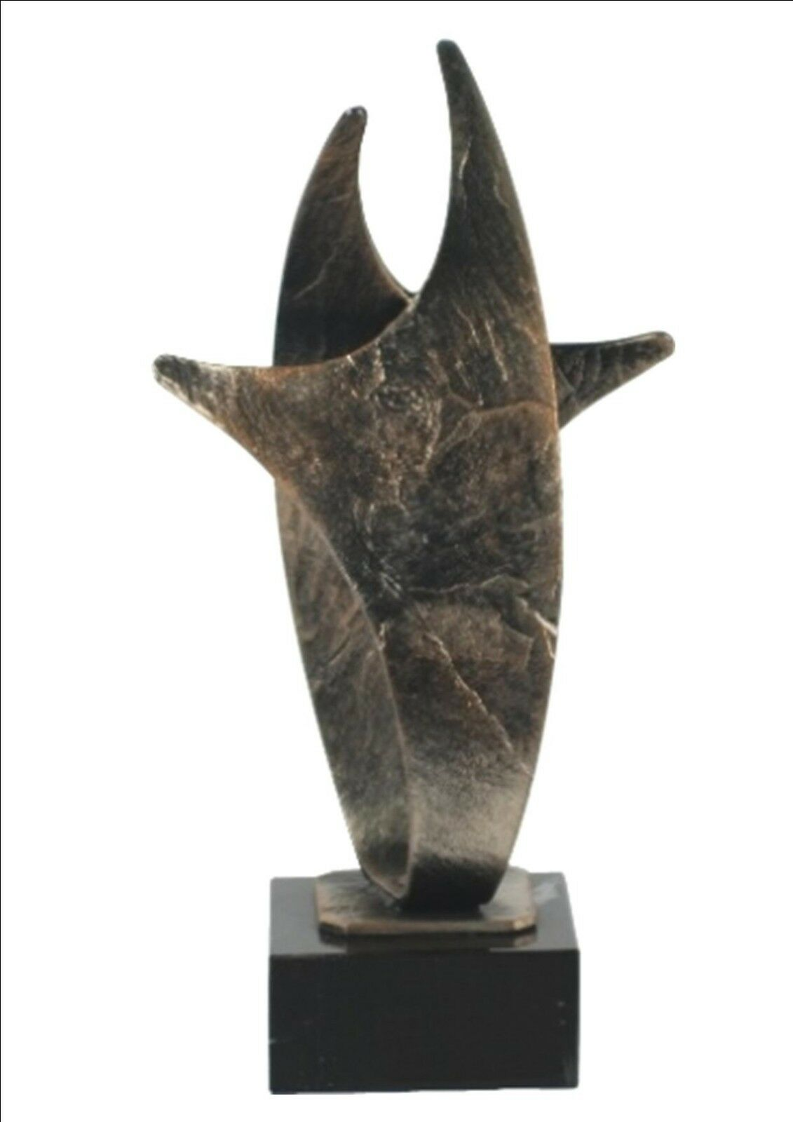 CAST METAL & MARBLE BASE ABSTRACT ART TROPHY CHAMPION WINNER FREE ENGRAVING