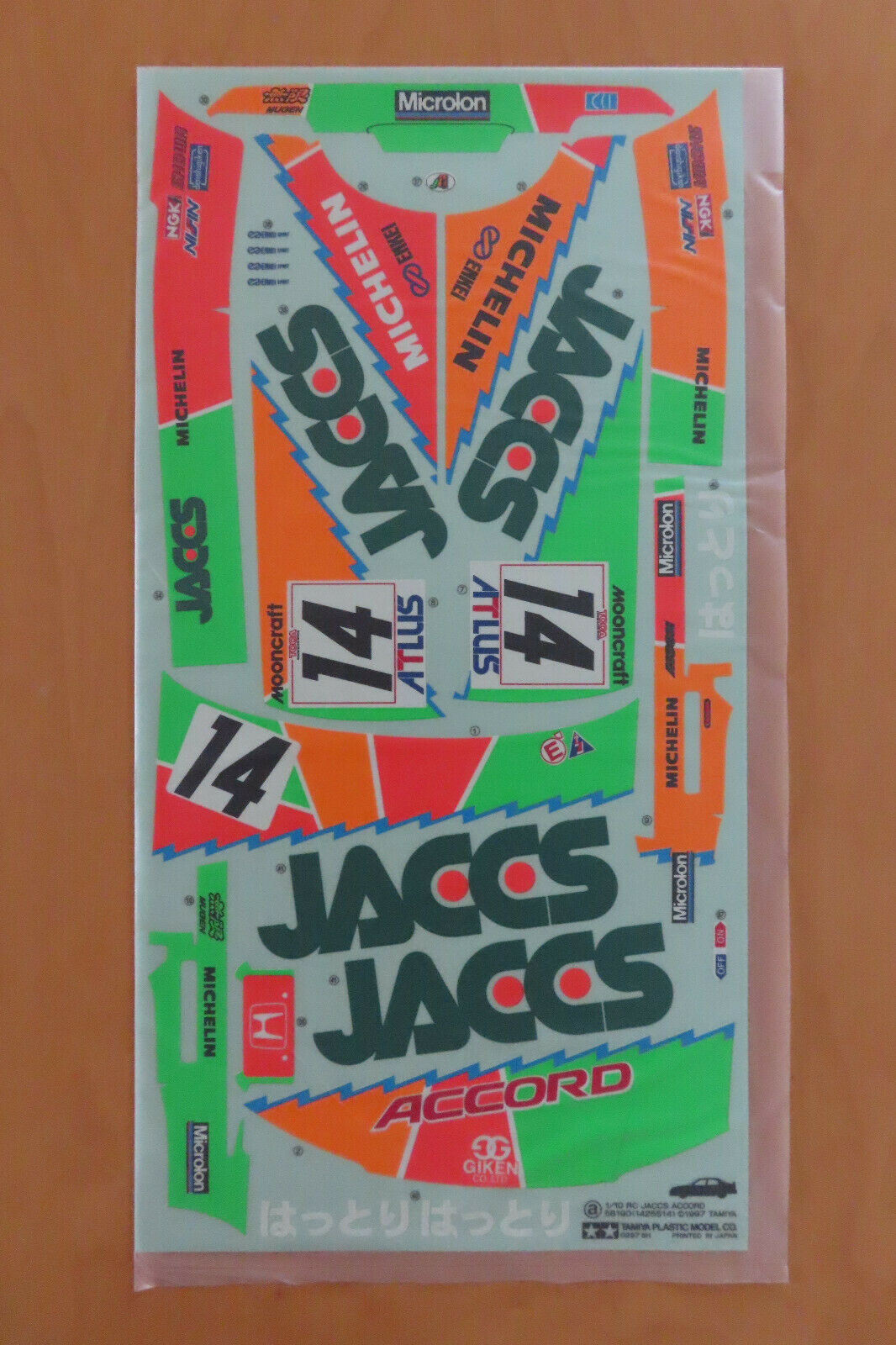RC Tamiya Decal 58190 Honda Jaccs Accord 1997 NEU NIB