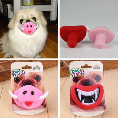 funny puppy dog teeth toys two styles demon and pig chew novelty toys halloween