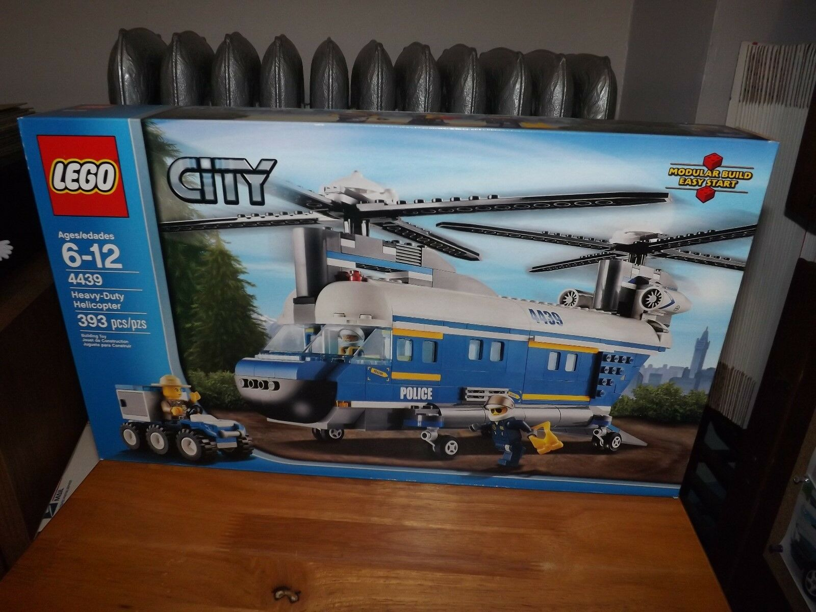 LEGO CITY HEAVY DUTY HELICOPTER, KIT  4439, 393 PIECES, NEW IN BOX, 2012