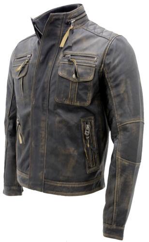 100 da Giacca nera motociclista calda uomo da in vintage pelle 0B6wBf