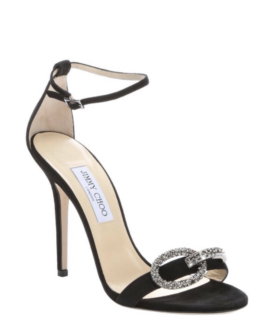 Jimmy Choo Black Tamsyn Crystal Buckle Sandals Size 6US 36 36 36 EUR MSRP  1095 d1ec93