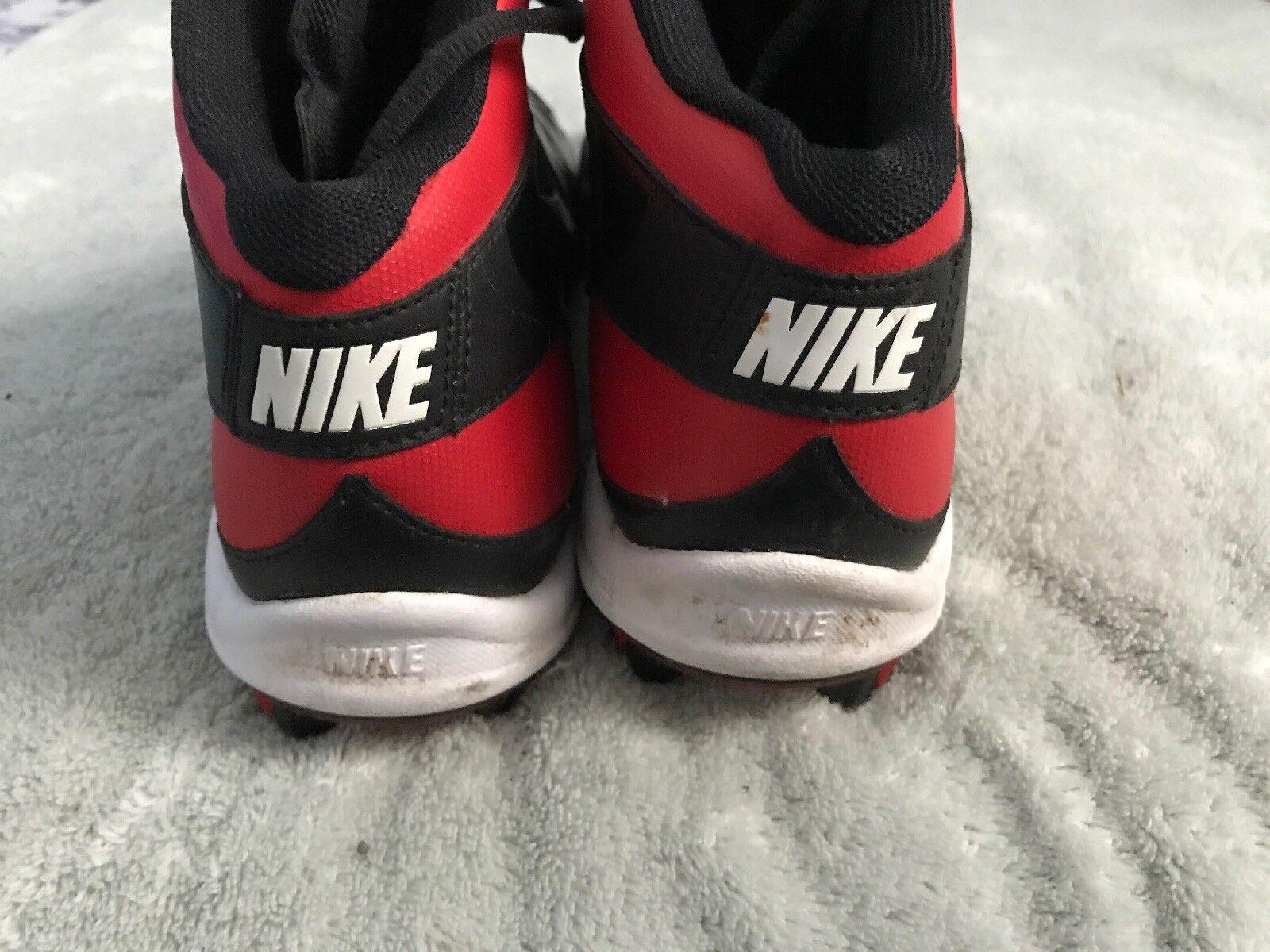sale retailer 6ba18 57e66 ... Nike Mens Black Red Alpha Shark Shark Shark 2 Mid Football Cleats 11.5  Medium ...