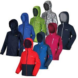 Regatta Boys Girls Kids Lightweight Hooded Waterproof Rain Jacket Coat RRP £50