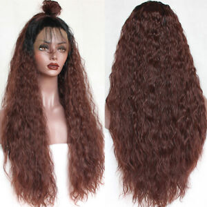 Long-Loose-Curly-Wave-Ombre-Synthetic-Lace-Front-Wigs-Heat-Resistant-Glueless