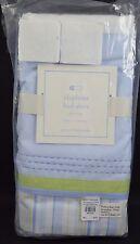 "Pottery Barn Baby Elephant Bed Skirt Light Blue Green Crib 11"" Drop"