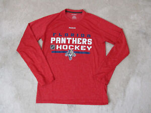 buy online efd70 2f39d Reebok Florida Panthers Long Sleeve Shirt Adult Small Red ...