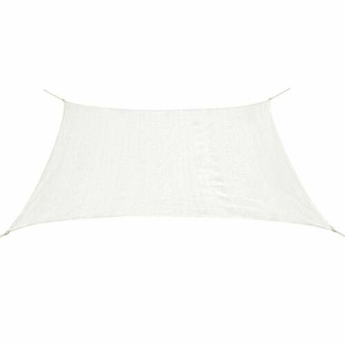 vidaXL Voile d/'Ombrage PEHD Rectangulaire 4x6 m Blanc Voile de Parasol Taud