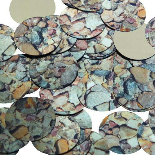 30mm Sequins Brown Stone Rocks Pebbles Gravel Metallic