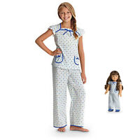 American Girl Cl Molly Duo Floral Pj's Size Xs (6) For Girls & Dolls Retired Pjs