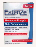 Extenze Maximum Strength 30 Tablets Increase Size & Performance Sept-19