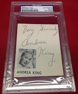 Andrea King signed Cut Slabbed PSA/DNA #8107949
