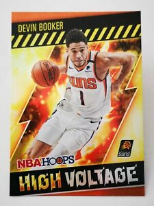 Panini Hoops 2020-21 N20 card NBA Devin Booker High Voltage #9 Phoenix Suns