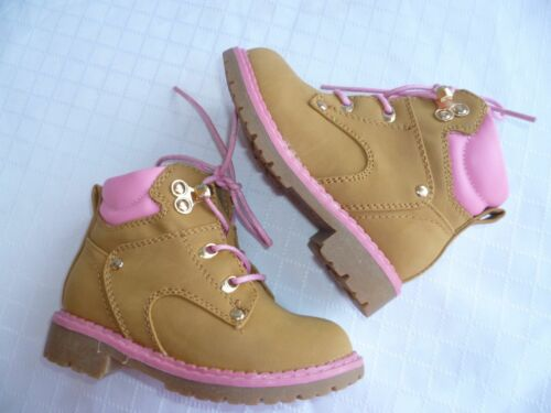 CAMEL//PINK MILITARY YOUTH GIRLS BOOTS SIZE 9-3