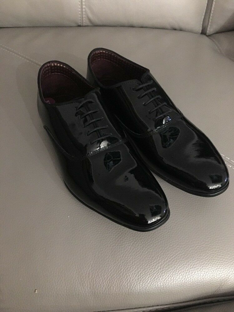 Handcrafted London Brogues Patent Dress Lace-up Uk 9 BNWOB
