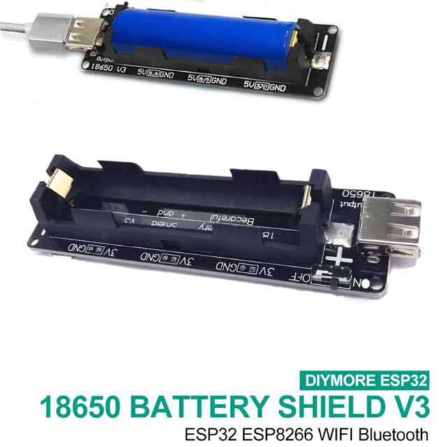 ESP32S ESP32 18650 Battery Shield V3 For Raspberry Pi WEMOS USB  Output Diy Kit/