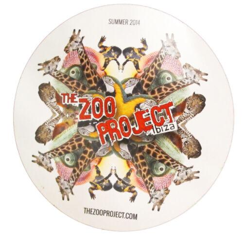 OFFICIAL Zoo Project Ibiza Club Sticker Kaleidoscope Jungle 2014 Large White
