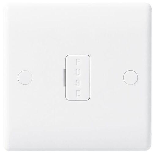 BG Nexus 854-Slimline 13 A Interrupteur Fusible Spur Unité de raccordement-Blanc