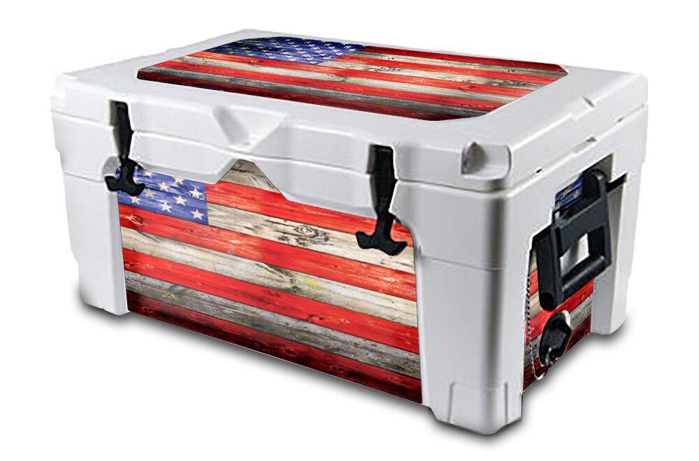 USATuff Decal Wrap L+I Kit fits IGLOO Sportsman 70qt Cooler USA Flag WD color