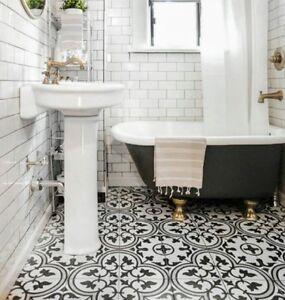 Details About TILE SAMPLES: Paris Vintage Grey Moroccan Victorian Porcelain  Wall U0026 Floor Tiles