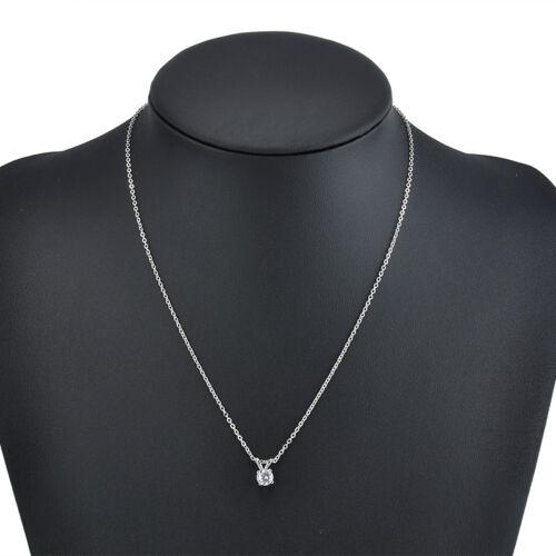 Fashion Womens Jewelry Charm Crystal Zircon Pendant Chain Statement Bid Necklace