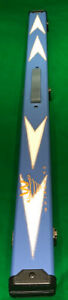 SNOOKER-POOL-3-4-CUE-CASE-BLUE-WHITE-ARROWS-FREE-DELIVERY