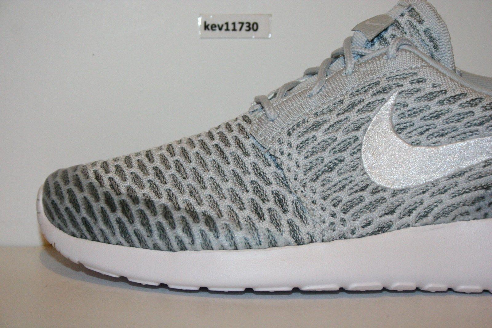 Original Nike Roshe Run One Flyknit Flyknit Flyknit Cool grey white 704927 009 Frauen Größe 5a3983