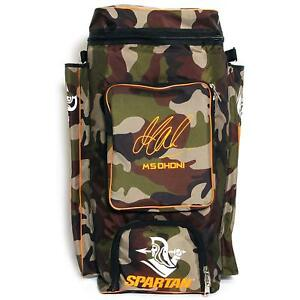 Brand-New-Spartan-Ms-Dhoni-Cricket-Kit-Camouflage-Backpack-Orange-Print