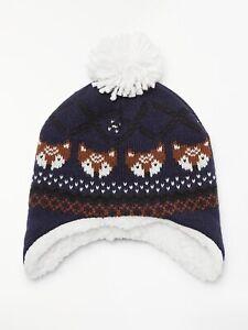 Baby Navy Pom Pom Hat Various Sizes Brand New 0-3months Ex UK Chain Store