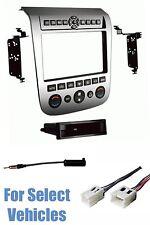 Silver Radio Install Dash Kit Combo for 2003 2004 2005 2006 2007 Nissan Murano