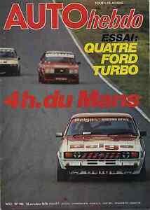 AUTO-HEBDO-n-186-du-18-Octobre-1979-4H-du-MANS-FORD-TURBO