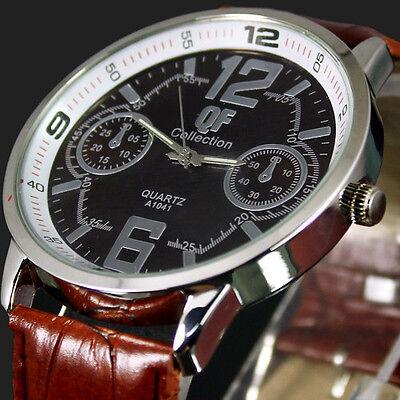 Free Shipping New Good Men's leather fashion large quartz watches , M2